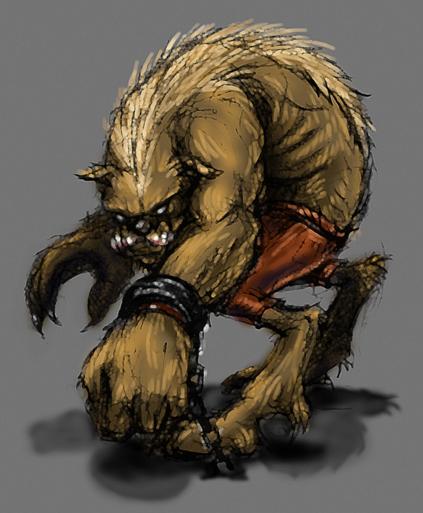DSG 269: Character: Gnoll(Hyena-humanoids)